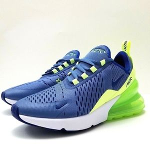 Nike Air Max 270 Blue Volt Green Shoes
